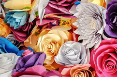 Rosen-Papierhandwerk lizenzfreie stockfotografie