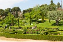 Rosen-Park in Barcelona katalonien Lizenzfreies Stockfoto