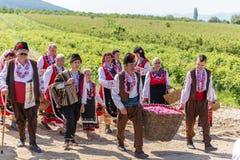 Rosen-Sammelnfestival Lizenzfreies Stockbild