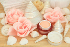 Rosen-Schönheits-Badekurort stockbilder