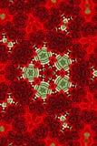 Rosen-Sternschneeflockekaleidoskop-Tapetenmuster Stockbilder