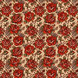Rosen tätowieren Muster stockfotografie