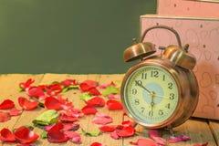 Rosen-Uhren der Liebe Stockfoto