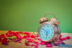 Rosen-Uhren der Liebe Stockfotografie