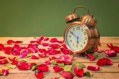 Rosen-Uhren der Liebe Lizenzfreie Stockfotografie