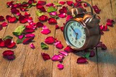 Rosen-Uhren der Liebe Lizenzfreie Stockbilder
