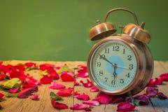 Rosen-Uhren der Liebe Stockbild