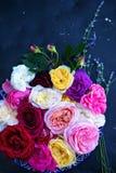Rosen und Lavendel stockfoto