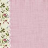 Rosen und Spitze-rosa Einklebebuch-Seite Lizenzfreie Stockbilder