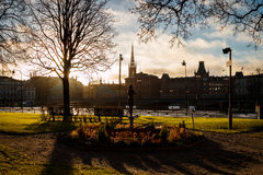 Rosenbad city park in Stockholm, Sweden Stock Photography