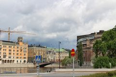 Rosenbad - Swedish government and Parliament House Stock Photography