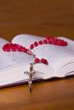 Rosenbeet und Bibel Lizenzfreies Stockfoto