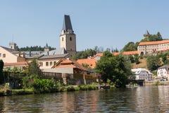 Rosenberg in Czech Republic. Rosenberg with St. Mary's Church and Castle Rosenberg in Czech Republic stock photo