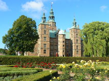 Rosenborg Castle in Copenhagen. Rosenborg Castle and roses, in Copenhagen Stock Photo