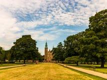 Rosenborg castle in Copenhagen. Rosenborg castle in Kongens Have - Rosenborg King`s garden royalty free stock photography