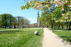 Rosenborg Garden with Castle Royalty Free Stock Images
