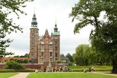 Rosenborg Schloss ist das Schloss, das in Kopenhagen aufgestellt wird Stockfotos