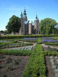 Rosenborg Slot (Castle) and Gardens, Copenhagen, Denmark Stock Photography