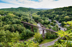 Rosendale, NY  Trestle from the Joppenbergh Mountain Royalty Free Stock Photography