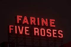 Rosenerrichten Farine fünf Stockfoto