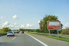 Rosenfeld, historyczny miasto, Autobahn, Niemcy zdjęcia royalty free