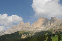 Rosengarten Group. This is the beautiful Rosengarten group massif in midst of the dolomites in Italy. The region is South Tyrol Stock Images