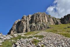 The Rosengarten Group, Dolomites. From the bottom of the Rosengarten Group, Dolomites Royalty Free Stock Photo