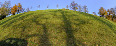 Rosengarten hill from Bern with shadows made by trees Stock Photos