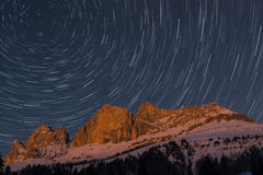 Rosengarten and startrails Royalty Free Stock Photo