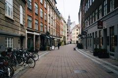 Rosengården, a narrow street in Copenhagen, Denmark. Stock Photo