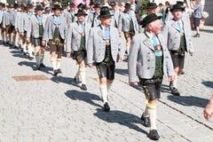 Rosenheim costume parade men Royalty Free Stock Photography