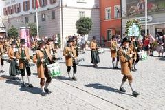 Rosenheim costume parade performers Stock Image