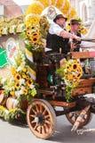 Rosenheim, Germania, 09/04/2016: Parata di festival del raccolto in Rosenheim Immagini Stock Libere da Diritti