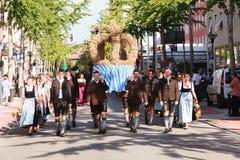 Rosenheim, Niemcy, 09/04/2016: Żniwo festiwalu parada w Rosenheim Zdjęcie Royalty Free