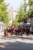 Rosenheim, Niemcy, 09/04/2016: Żniwo festiwalu parada w Rosenheim Fotografia Royalty Free