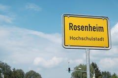 Rosenheim-Zeichen Lizenzfreie Stockfotografie
