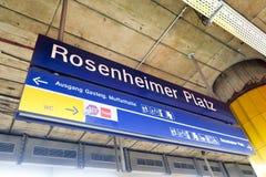 Rosenheimer Platz Stock Photo