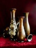Rosenholz-Vasen stockbild