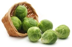 Rosenkohl or Brussels sprout Stock Photo