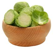 Rosenkohl or Brussels sprout Stock Image