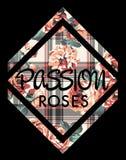 Rosenleidenschaft lizenzfreie abbildung