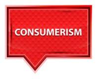 Rosenrosa-Fahnenknopf der Verbraucherschutzbewegung nebelhafter lizenzfreie abbildung