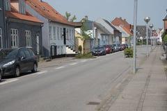 Rosensgade,在更加奇怪,丹麦的Slippen 免版税库存图片