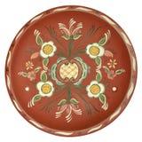 Rosepainted platter Royalty Free Stock Image