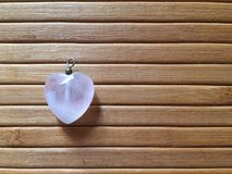 Rosequartz del corazón Foto de archivo