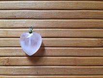 Rosequartz del cuore Fotografia Stock