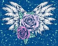 Roses à ailes Photo libre de droits