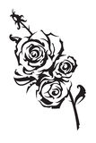 Roses. Painted in black and white Stock Images