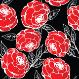 Roses. Red roses pattern, abstract background Stock Images