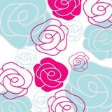 Roses. Stylized vector rose background, EPS10 Royalty Free Stock Photos